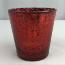 "(6) Red Mercury 3"" Glass Votive Tea Light Candle Holders Wedding Centerpiece Set"