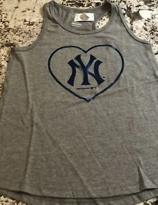 NWT GIRLS NY YANKEES TANK TOP SHIRT SIZE MEDIUM (8)