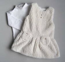 MAYORAL Girls 18 Mo Ivory Turtleneck & Fuzzy Jumper Dress Set 86 cm