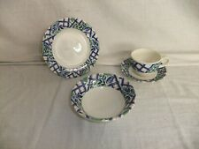 c4 Pottery Royal Chelsea - blue green check contemporary tableware (1997) - 6B3A