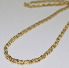 925 Sterling Silver 18 CT Yellow Gold Finish CAGE Chain Gents FULL CZ