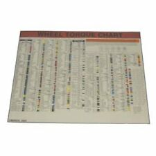 Lock Technology 1500-LWC Wheel Torque Laminated Wall Chart