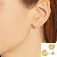 14K Real Yellow Gold Ball Shiny Polished Stud Earrings 4mm