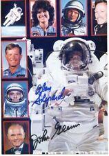 Alan Shepard & John Glenn: Usa Space Pioneers: Color Photo Autographed
