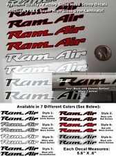 Trans Am Ram Air Hood Scoop Decal Kit 2pc Multi-color Outlined Laminated 0129