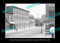 OLD LARGE HISTORIC PHOTO DUNDAS ONTARIO CANADA, THE GRAFTON CLOTHING CO c1934