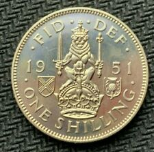 1951 Great Britain 1 Shilling Coin PROOF   ( Mintage 20K )   World Coin   #C939