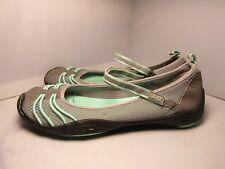 J-41 Womens 7 Titan Mary Jane Strap Grey & Aqua Vegan Comfort Walking Shoes
