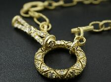 """Barry Kronen Babylicious 18K Gold 0.66ct Diamond Toggle Chain Necklace 16"""" NG369"""
