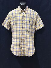 "Classic Polo Ralf Lauren CUSTOMFIT Carreaux/Écossais S.S. Shirt 40"" (101.5 CM) Poitrine"
