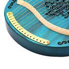 Lyre Harp Portable 16 String Tune Wood Green Mahogany Body Harp For Beginners Ut