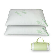 2 Pack Bamboo Shredded Memory Foam Pillow with Hypoallergenic Cover Queen/King