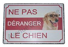 """Plaque humoristique Attention au chien """"Ne pas déranger le chien""""  NEUF"""