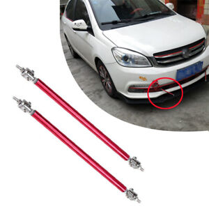 "2PCS Adjustable 5.9"" Car SUV Front Bumper Lip Splitter Rod Strut Tie Bar Support"