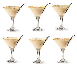 Martini Cocktail Glasses 175ml Set of 6 GLASSWARE PROFESSIONAL USE RRP £17.99!!