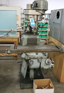 TREE VERTICAL MACHINE MILL, MODEL 2UVR  INCLUDE BOX MISC. PARTS