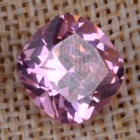 12.15ct Natural Pink Sapphire 12*12mm Cushion Cut VVS1 Unheated Loose Gemstone