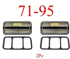 71 95 Chevy Van 2Pc Deluxe Clear Side Lights G10 G20 G30 GMC Front Or Rear Set