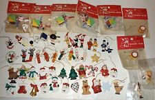 55 Hand Made & Painted Miniature Ornaments, Wood, Resin, Treasure House Craft.