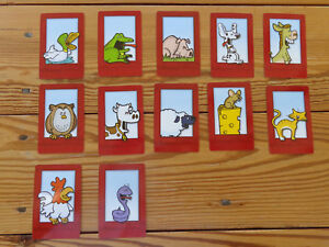SNORTA! -12 Animal Cards - 2004-2005 Board Game Replacement Parts Pieces