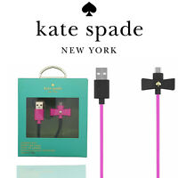 Kate Spade New York Bow Charge Sync Cable Micro USB Black Bow Vivid Snapdragon