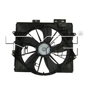 For Cadillac CTS SRX STS Dual Radiator and Condenser Fan Assembly TYC 622930