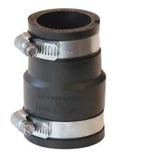 """Flexible Coupling 1-1/2""""x1-1/4"""" Reducer Coupling Plumbing Clamps PVC Drain"""