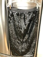 Black Matte Sequin PENCILSkirt Fully Lined SIZE 2X EUC