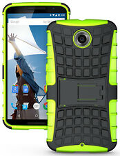 NEON LIME GREEN GRENADE GRIP TPU SKIN HARD CASE COVER STAND FOR MOTOROLA NEXUS 6
