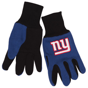 NFL NEW YORK GIANTS GLOVES KIDS YOUTH SIZE TWO-TONE NEW