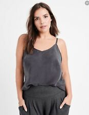 Ryllace 100% Silk Serendipity Cami Camisole Tank Gray Pink Ivory 18 20 24 PLUS