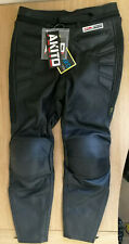 Akito G-Force Leather Motorcycle Motorbike Trousers, Size 32