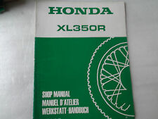 SUPPLEMENT MANUEL D ATELIER HONDA XL350R EDITE EN 84 REF.67KL300Z