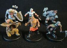 Dungeons & Dragons Miniatures Lot -  Dwarf Adventuring Characters !!