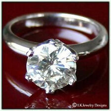 Round Solitaire Engagement Star Ring 2.0 Ct Forever One Ghi Moissanite