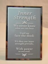 About Face Designs INNER STRENGTH - RECTANGLE GLASS PLAQUE #124005 NEW Sentiment