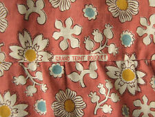 Vintage French ruffle  valance floral fabric c1930  floral fabric lovely textile