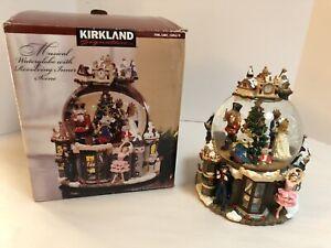 RARE LARGE Kirkland Christmas Nutcracker Musical Lighted Rotating Snow Globe