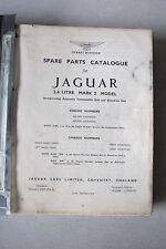 Original Jaguar Mark II 2.4 Litre Spare Parts Catalogue