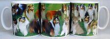 Rough Collie Mug Ceramic Collage Scenes Rough Collie Mug Cup Hand Decorated UK