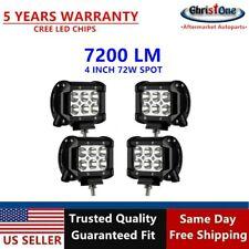 "4 set of NEW 4"" 72W LED WORK LIGHT BAR OFFROAD SPOT For Jeep FOG TRUCK Drivig LA"