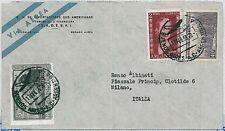Treno-ARGENTINA-STORIA POSTALE: posta Aerea per Italia - 1955-evita!