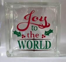 """Joy to the World Christmas Decal Sticker for 8"""" Glass Block DIY Crafts"""
