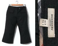 Women's BURBERRY Capri Shorts Long Wool Angora Cashmere Grey Size UK 10 US 8