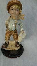 Adorable A.Santini Italy cute boy sculture figurine