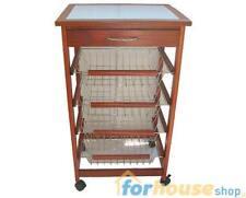 Portaverdure legno 4 + 1 cassetti ciliegio bec