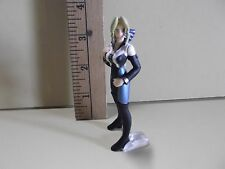 "#A253 Dead or Alive {Doa} Anime 3.75""in Blonde in Blue,Black & White Pant Suit"