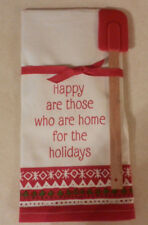 Hallmark Spatula & Christmas Towel Set Home For The Holidays