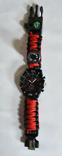 Upgraded Survival Watch - Deluxe Survival Gear - Paracord Watch w/ Thermometer