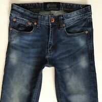 Mens SuperDry CORPORAL SLIM Stretch Dark Blue Jeans W28 L32 (399)